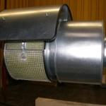 Rohrschalldämpfer mit Filter und Wetterschutz