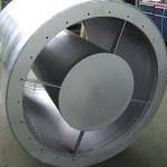 Rohrschalldämpfer für Axialventilator
